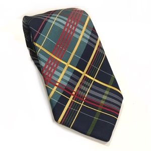 Ben Sherman Men's 100% Silk Plaid Neck Tie